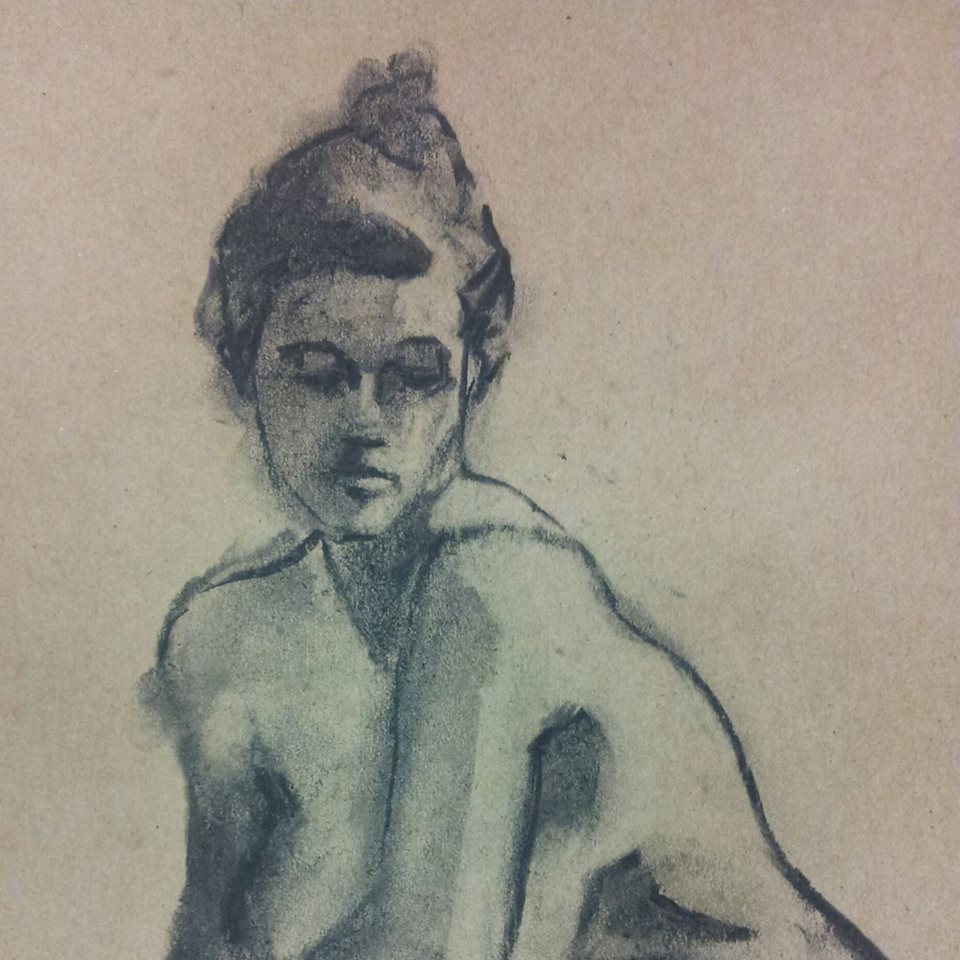Charcoal on Recycled Paper