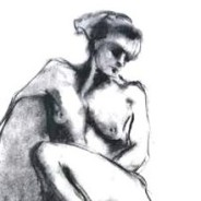 Reticence – Charcoal on Paper | SOLD